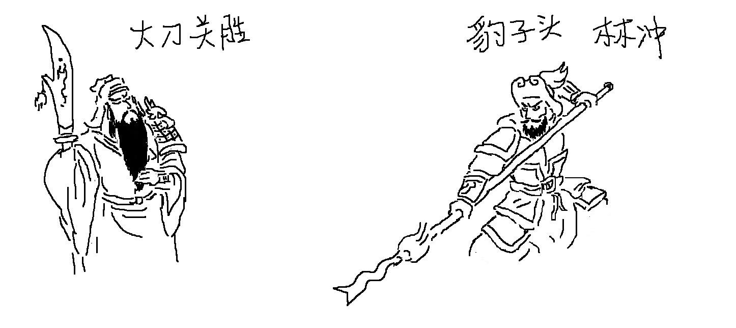 林冲的简笔画_水浒传林冲q版简笔画分享展示