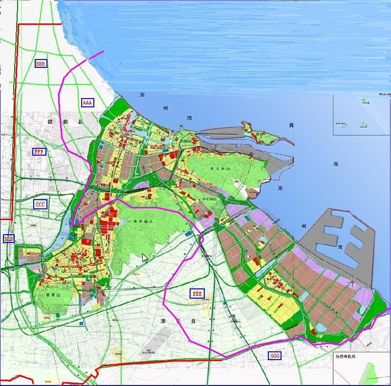 连云港人开阔眼界,我把连云港市2008-2030年规划图拿来说明高清图片