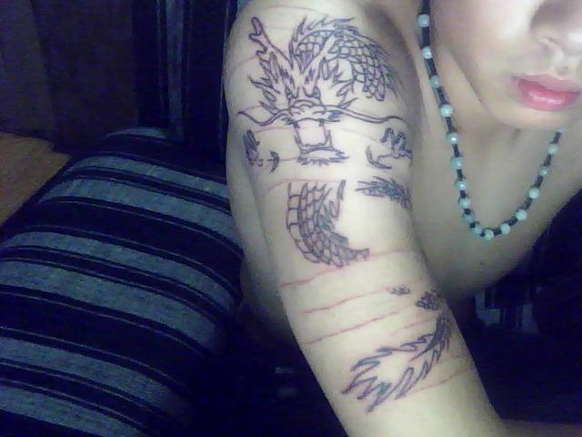 求高手,这条龙的名字,没打雾求高手设计,_纹身吧_百度图片