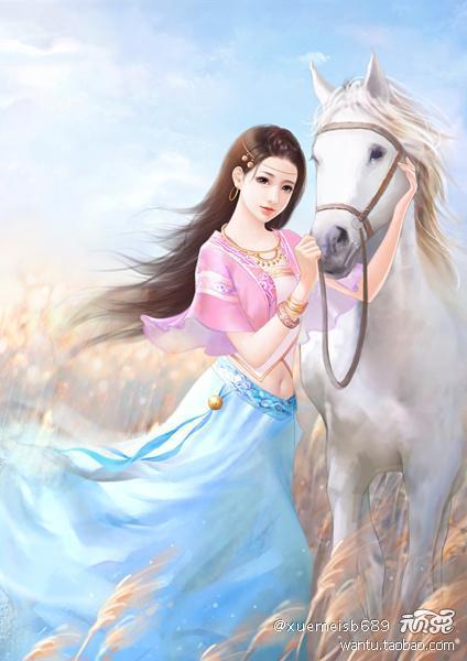 唯美中国风 古代美女