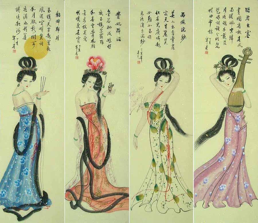 貂婵为中国古代四大美女图片
