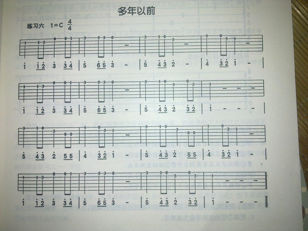 吉他谱入门曲谱图片展示_吉他谱入门曲谱相关图片下载