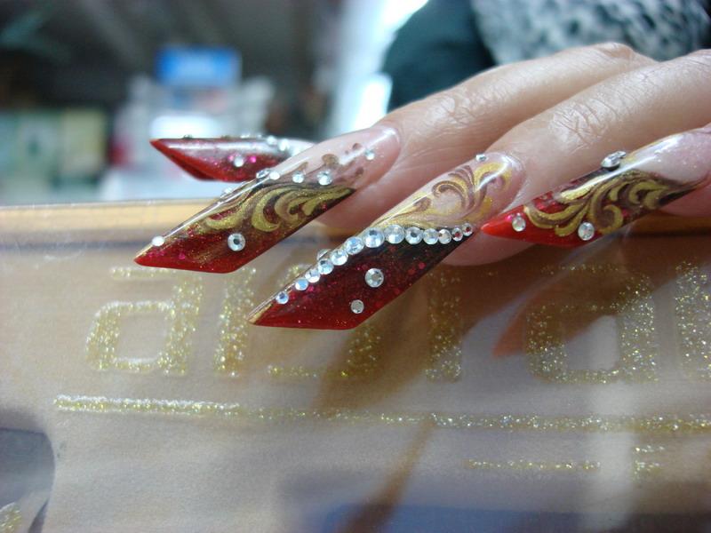 酷酷的法拉利指甲高清图片
