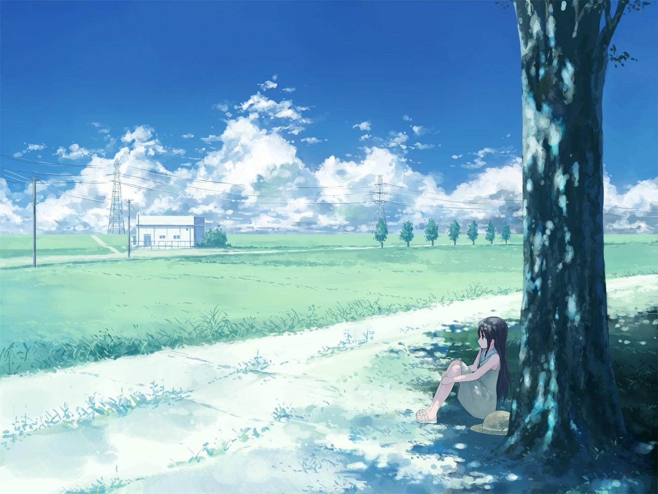 【唯美】二次元风景图-二次元风景图片