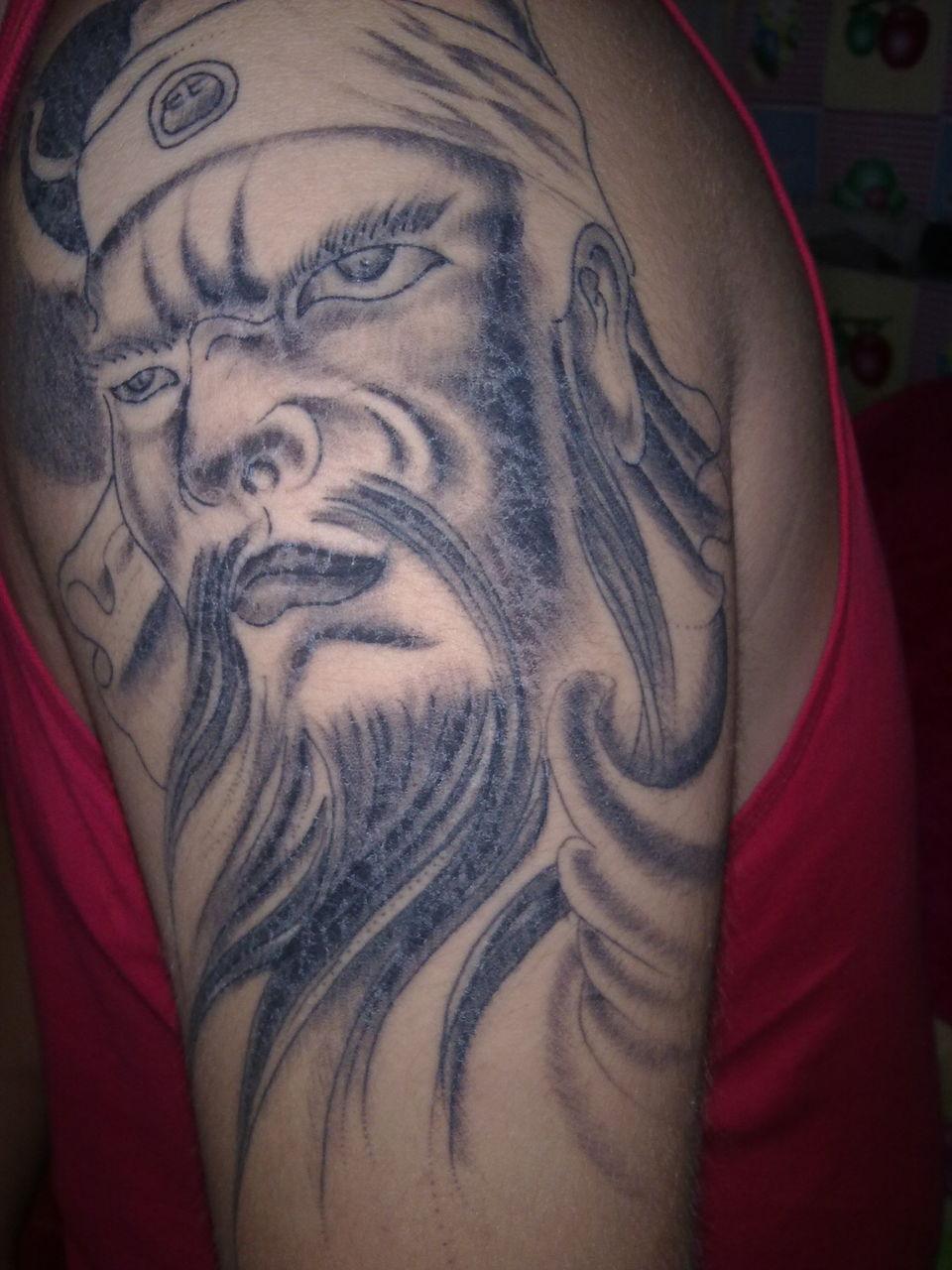 关公邪龙纹身图分享展示图片