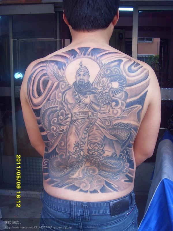 威武霸气的降龙关公纹身第6页图片