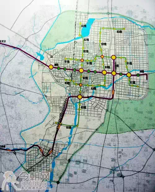 邯郸轻轨初步规划图-邯郸城市规划图图片大全 邯郸市2009年城市规划