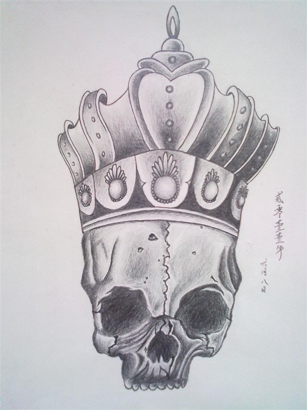 天之龙纹身手稿分享展示图片