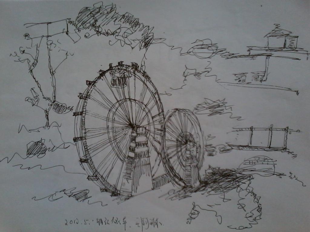 【速写】云南丽江的随手速写图片
