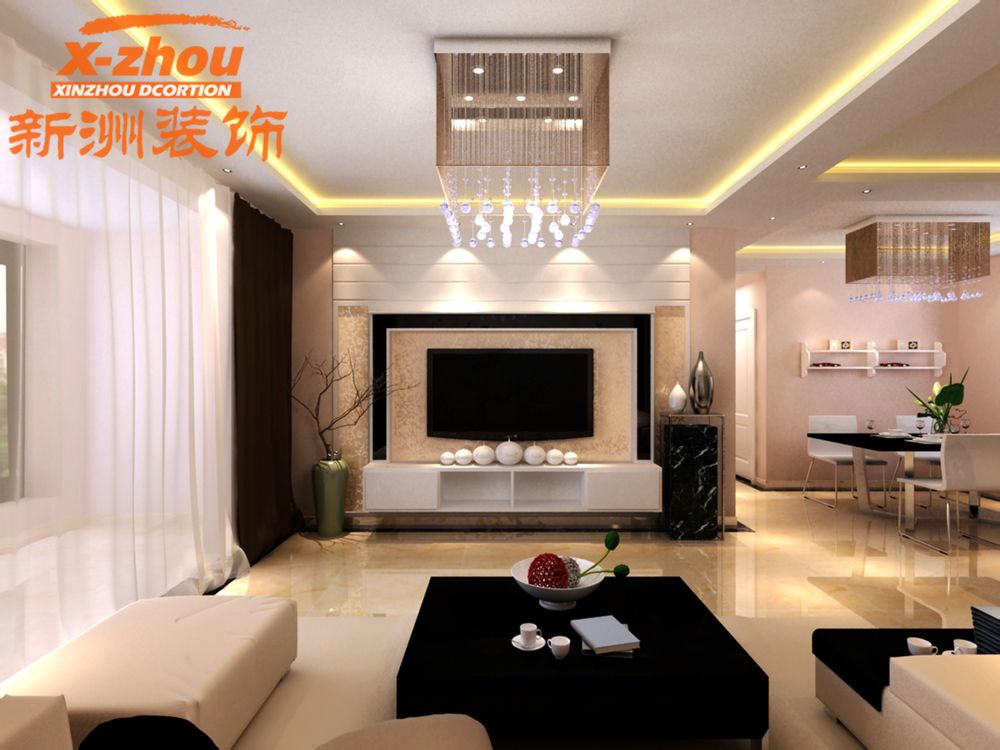 卧室门、五金件、顶角线、窗套、窗台石、过门石) 2、客餐厅高清图片