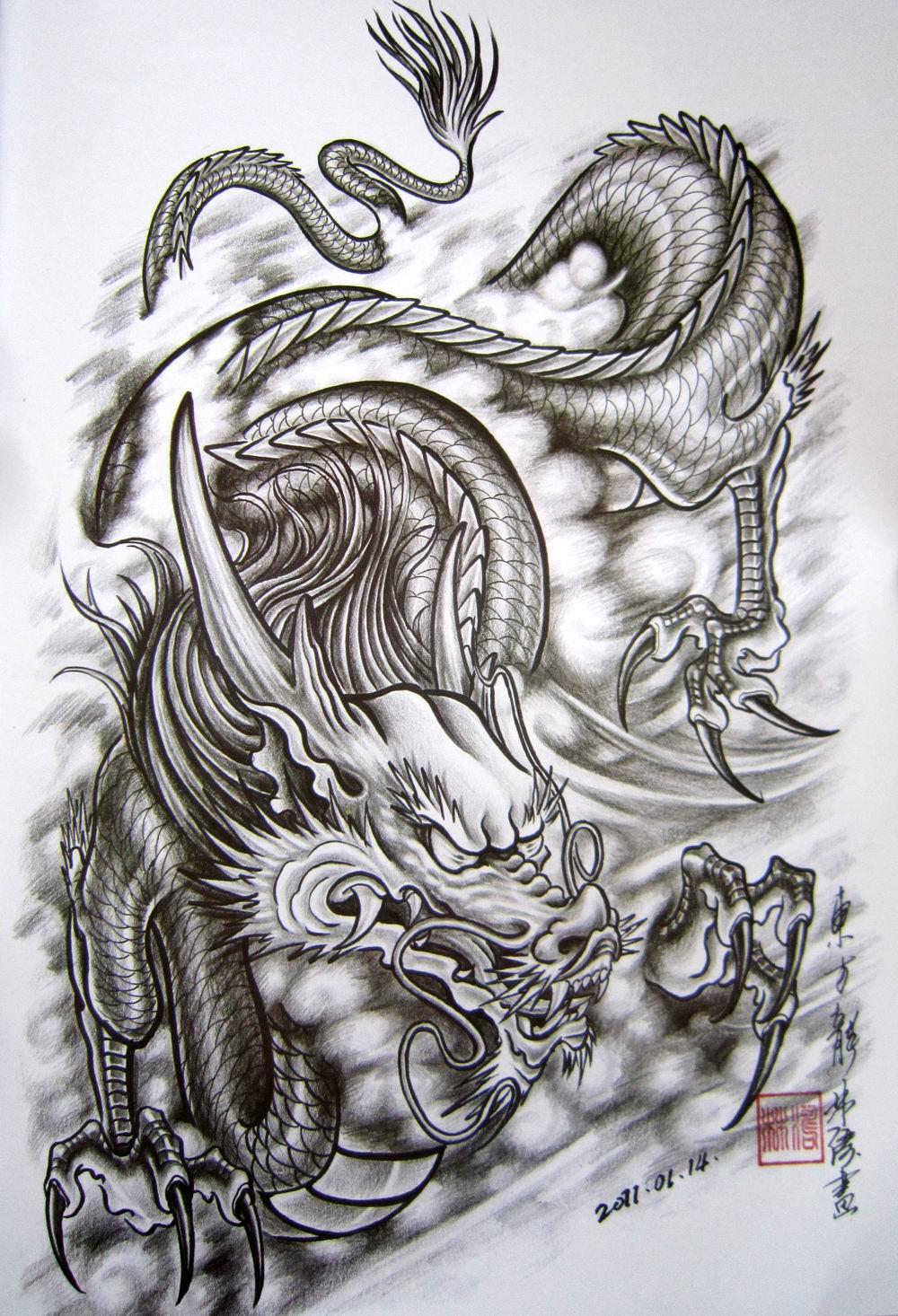明月艺妓 艺伎纹身手稿_纹身图案图片