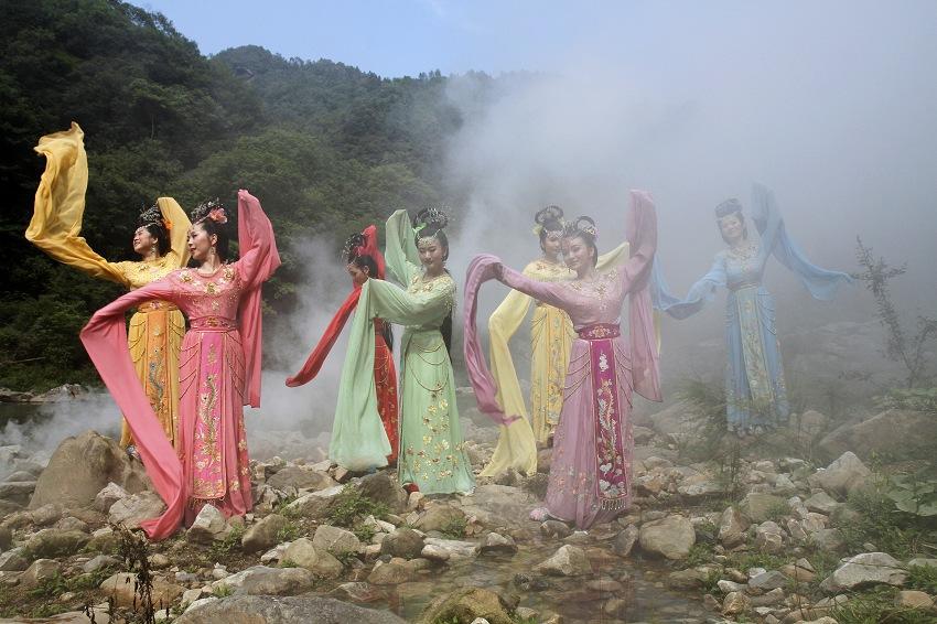 青衣仙女,蓝衣仙女,橙衣仙女图片