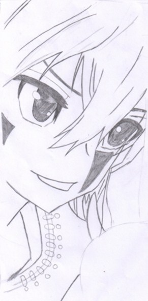 手绘黑白铅笔画头像
