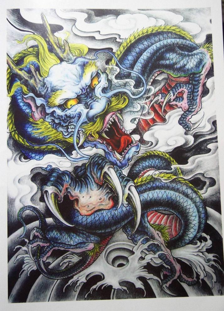 惊眩刺青纹身手稿 莆田艺龙纹身 (714x990)图片