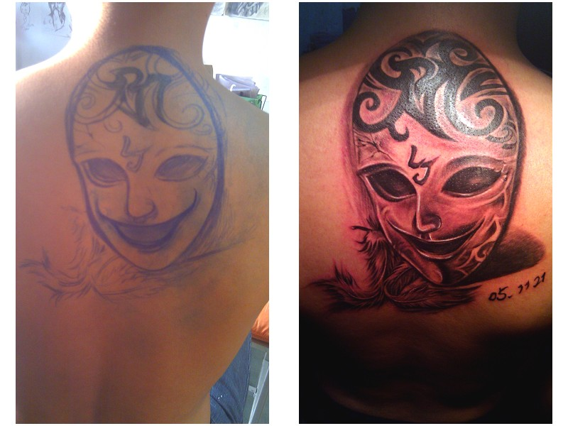 哈尔滨纹身----- 刺月·青花图片