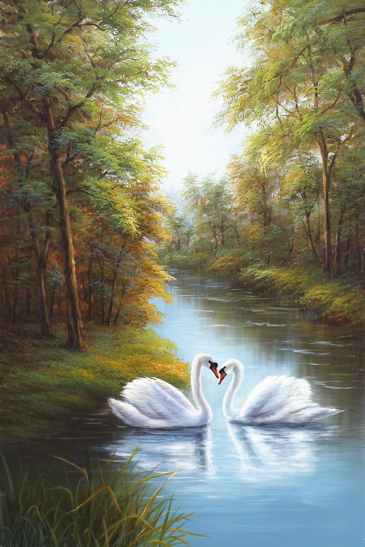 纯手绘油画欧式美式抽象画喜欢的可以带走联系微信842271161图片