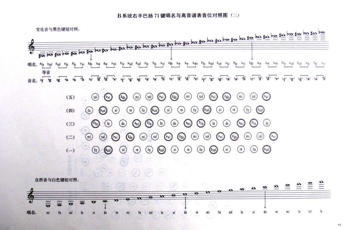 巴扬手风琴教材简谱版分享展示图片