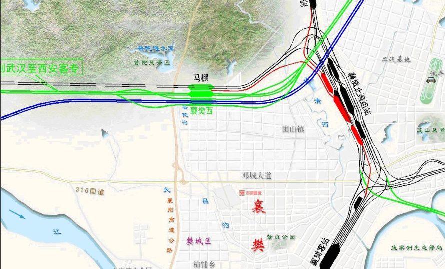 郑万高铁开封规划图 郑万高铁禹州线路图 郑万高铁郏县线路图