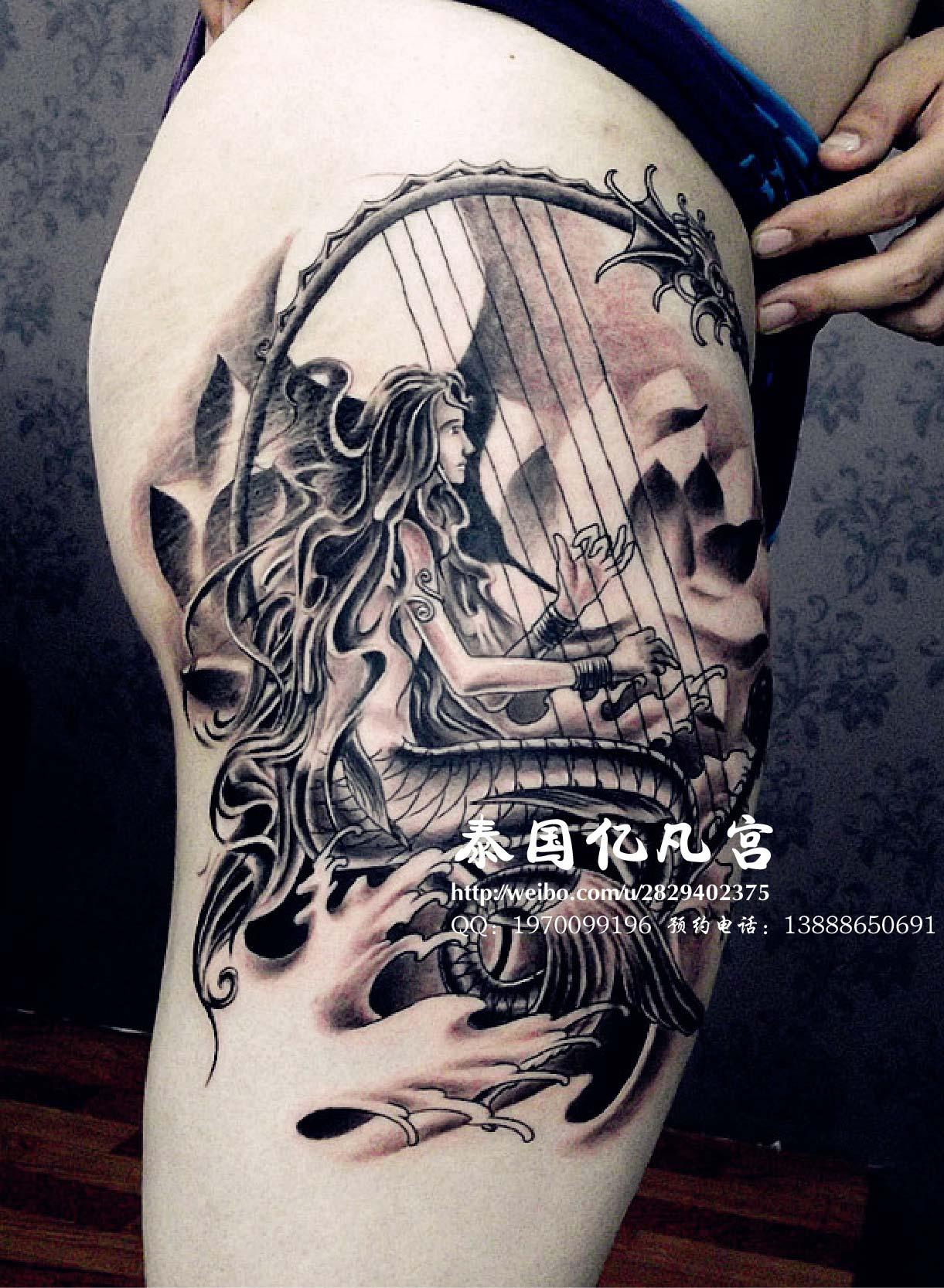 泰国象神纹身手稿图片图片
