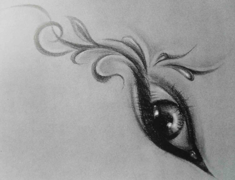 手稿漂亮好看花藤纹身图案图片