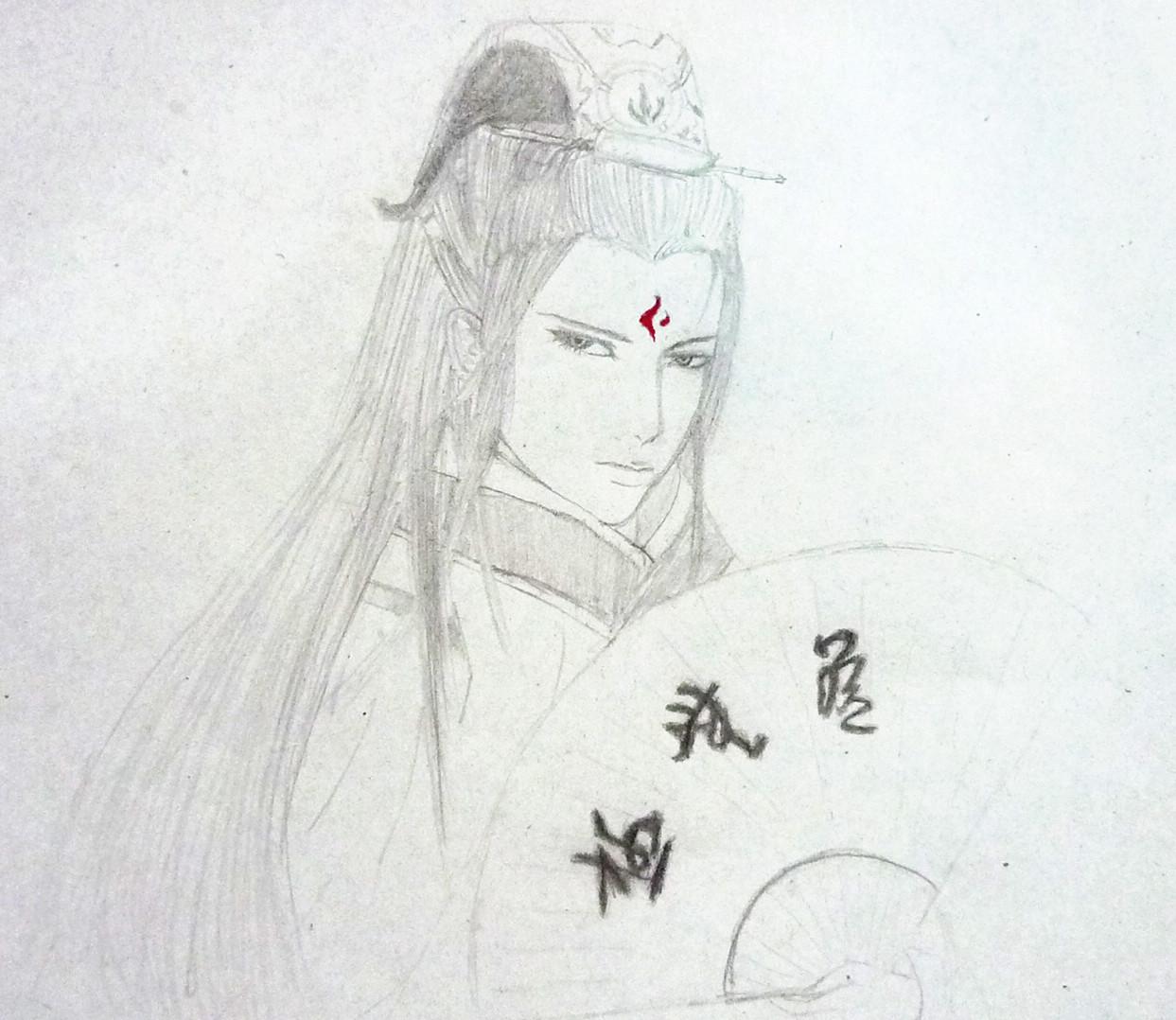 (大放送)靓女美男的手绘图图片