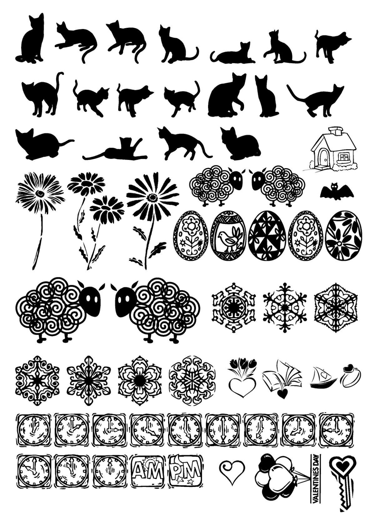 橡皮印章图案素材图片