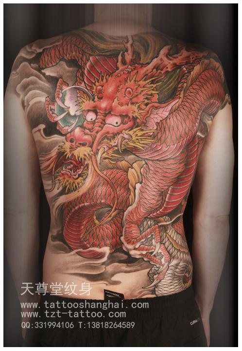 上海天尊堂杜泽武老师作品_新疆纹身吧_百度贴吧图片