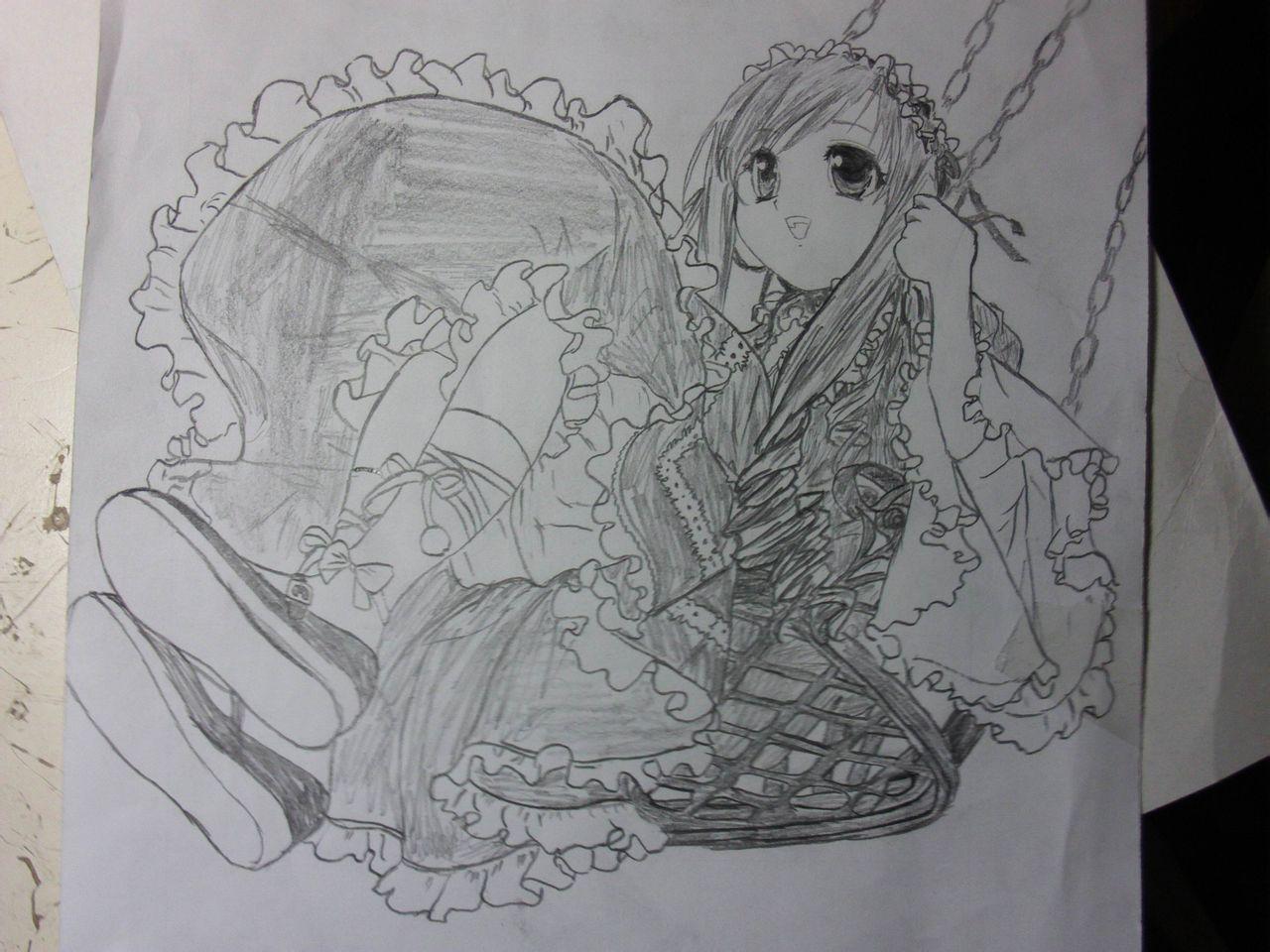 铅笔画的 公主裙 白雪公主铅笔画 儿童铅笔画公主图片