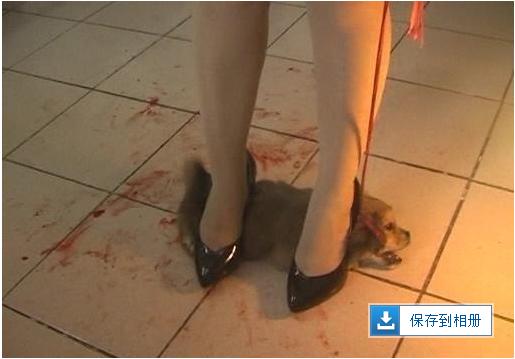 变态女人踩活取乐!