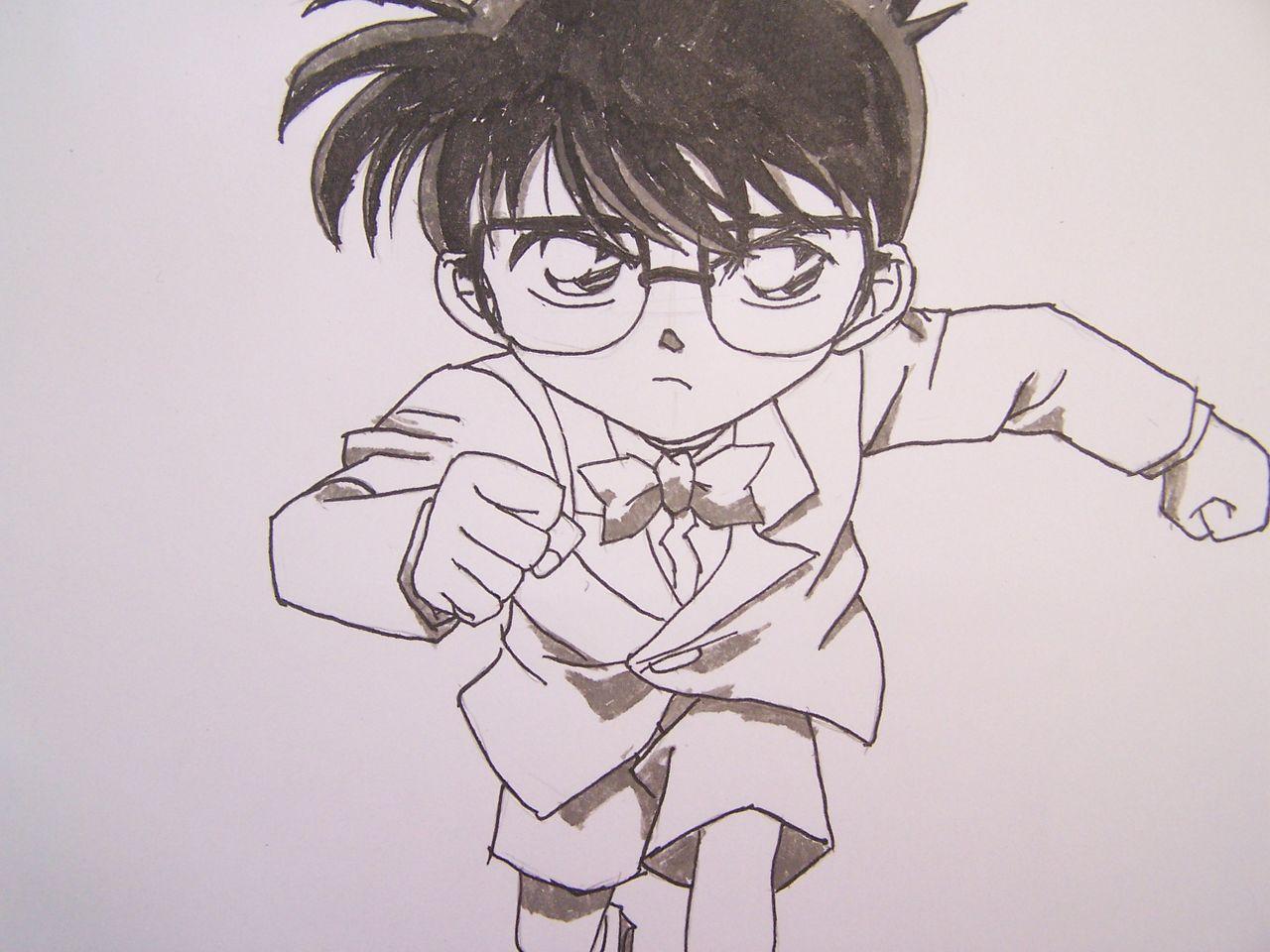 黑白动漫人物图片手绘简单漫画女孩 手绘黑白动图片
