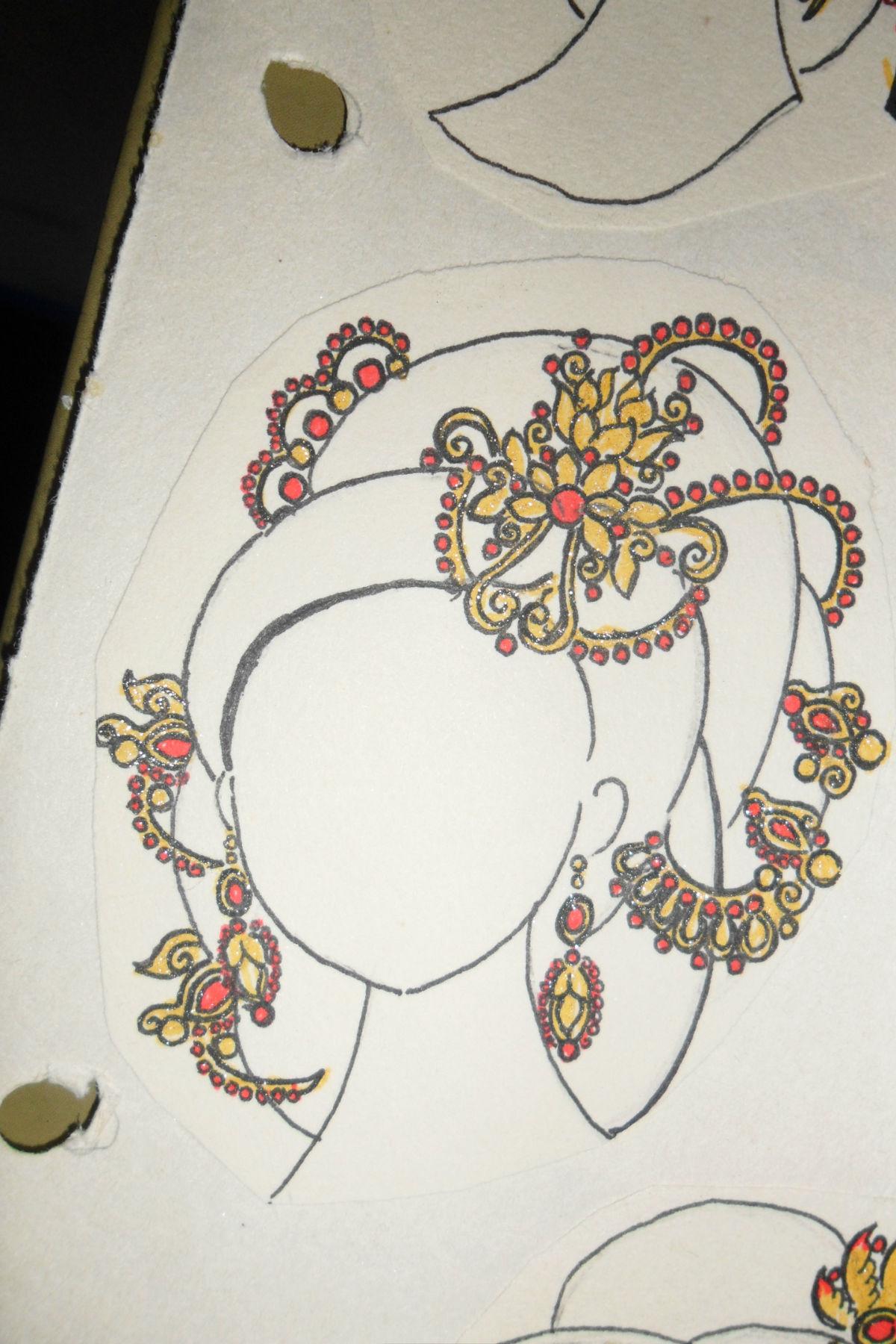 我的手绘图样唐代后宫妃嫔皇后头饰   以唐朝后宫为背景,道高清图片