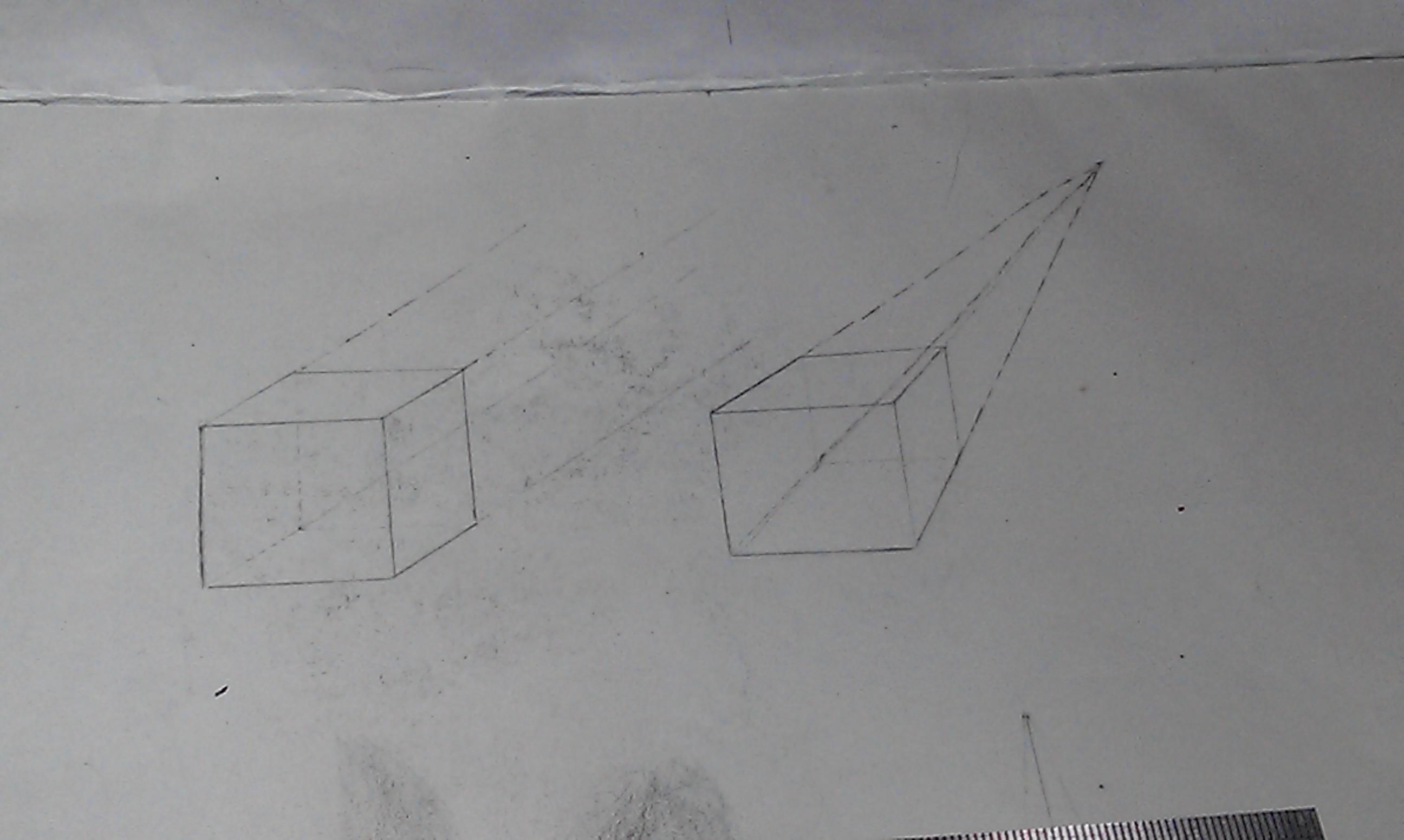 正方体画法图片大全 石膏正方体的画法图片