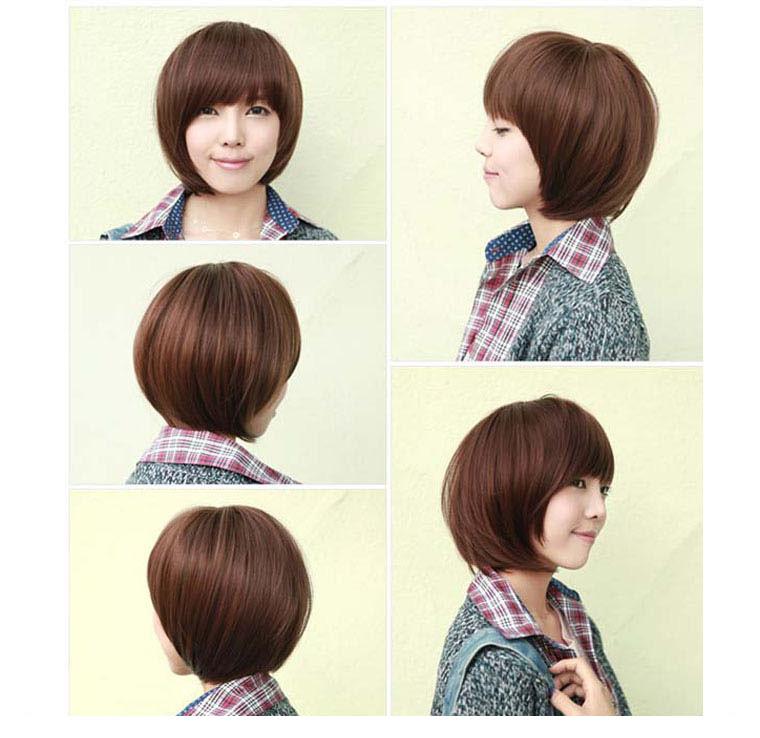 发型设计 胖mm圆脸短发发型2016女 > 短发美女 胖mm适合的发型  短发