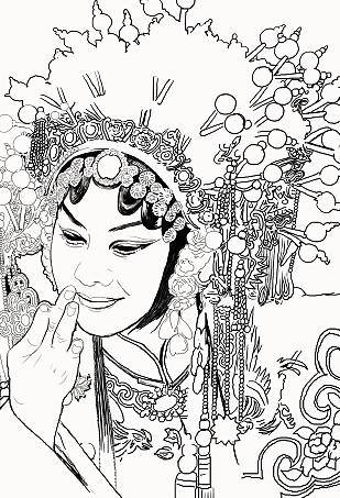 design 艺伎明月纹身图案手稿内容图片分享  纹身小臂艺妓线条内容图片