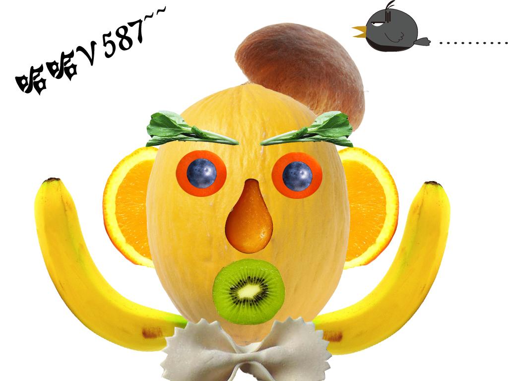 【心灵手巧】创意无限的蔬菜水果拼图图片