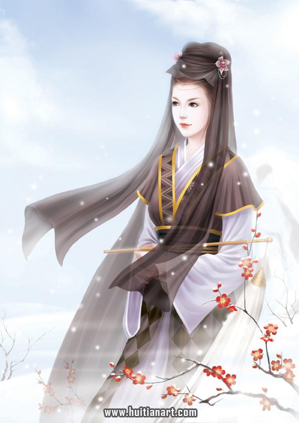 ゛┃【求图】宫装女子手绘图片