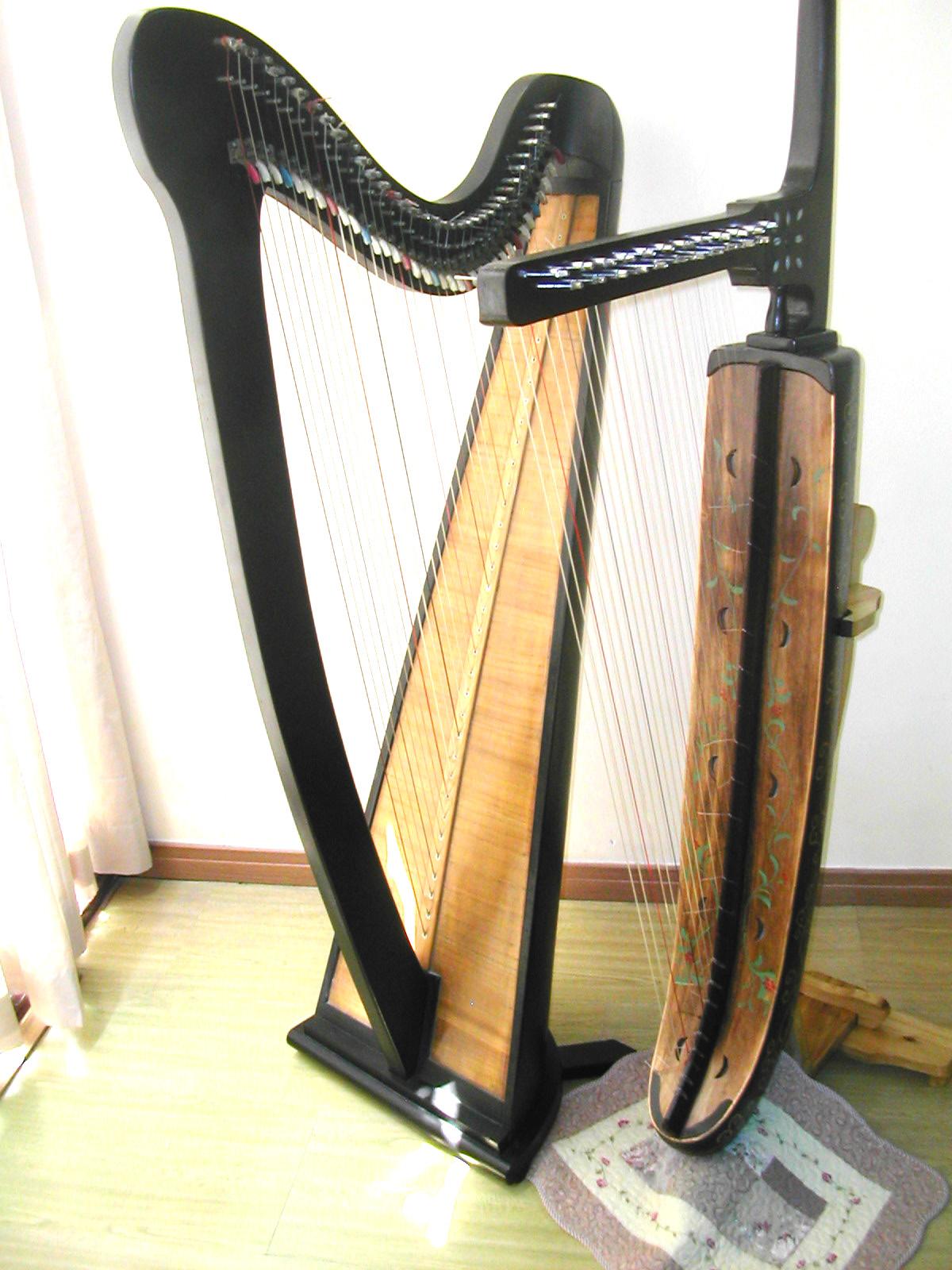 【乐器】竖琴与箜篌的区别图片