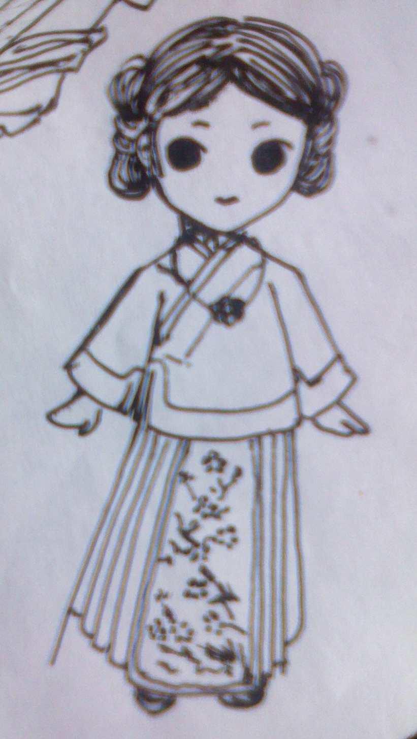 藏族服饰简笔画图片_藏族服饰简笔画大全