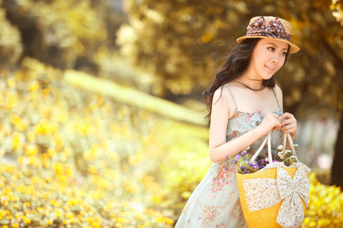 美女模特范芝星,森女系列图片
