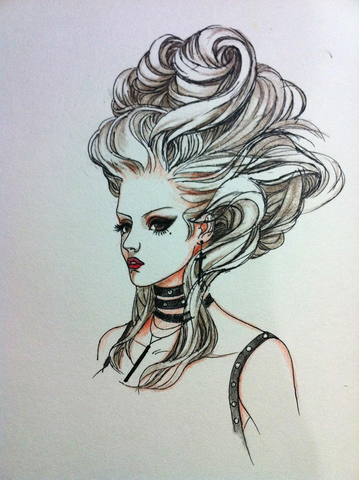 手绘头发材质贴图分享展示图片图片
