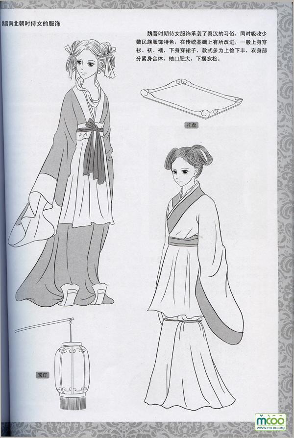 我想求古代女子衣服的部件.请看下面的图片.图片