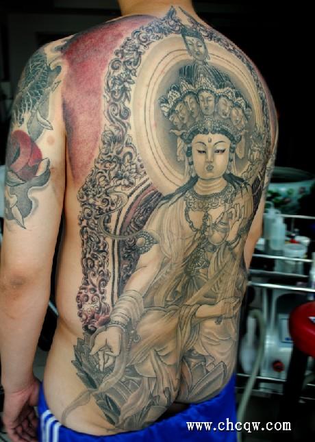 纹身图案.地藏王纹身吧.且不动明王与观音菩萨和地藏菩萨并高清图片