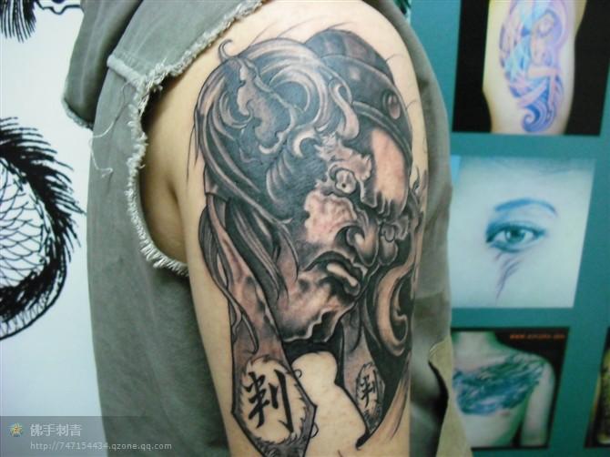 纹身图案 佛首花臂纹身手稿   佛手纹身图案  佛手刺青 首席纹身师图片