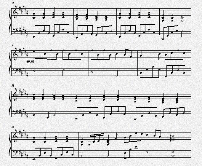 钢琴数字十年歌曲的谱子_数字歌下一首歌谱