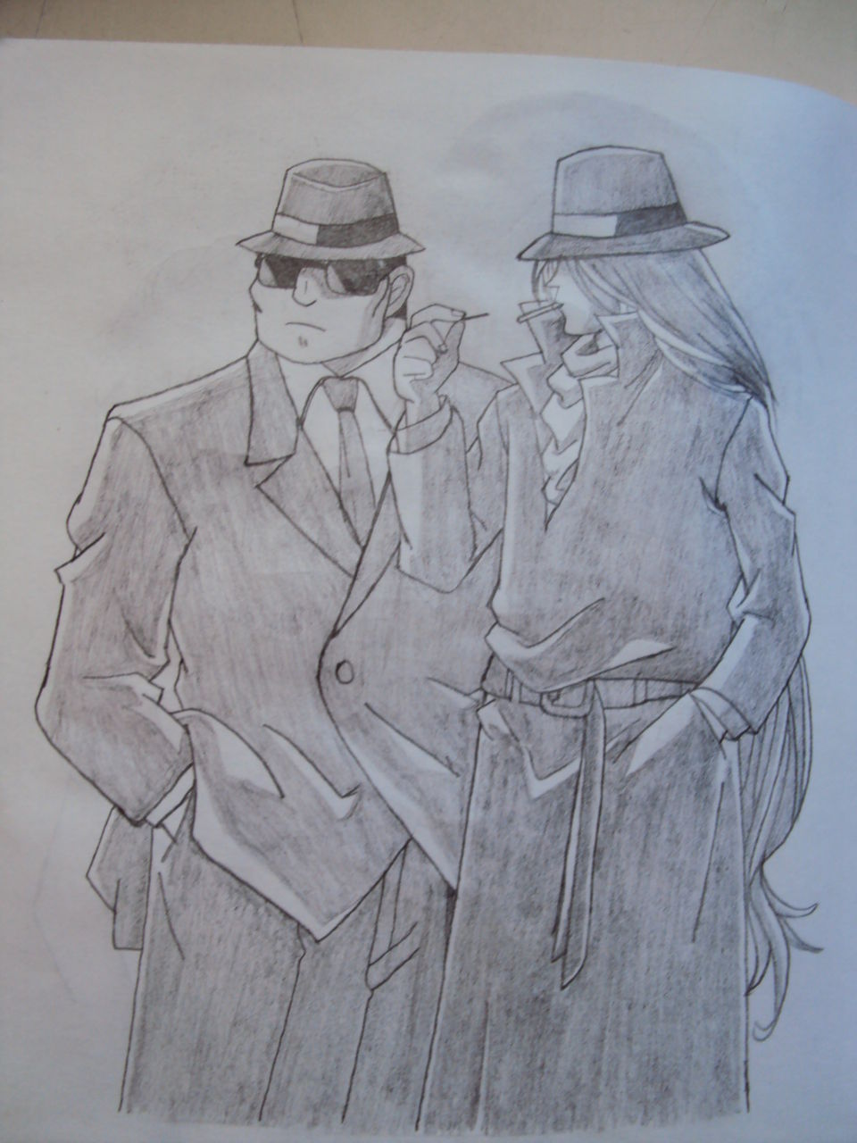 银手绘】我用 铅笔画 的 柯南 中的各种人物-4k柯南手绘铅笔画