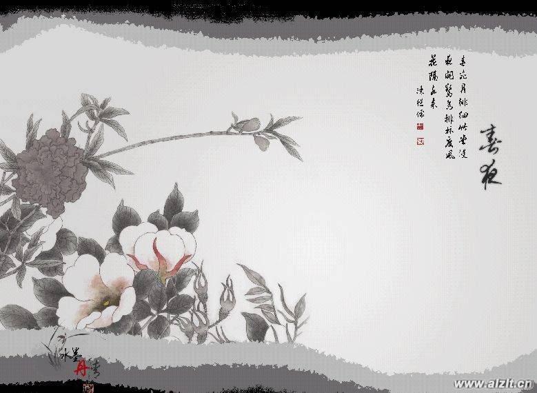 在线观看古风溶素背景图片 水墨画古风背景图片 古风花纹背景图片图片