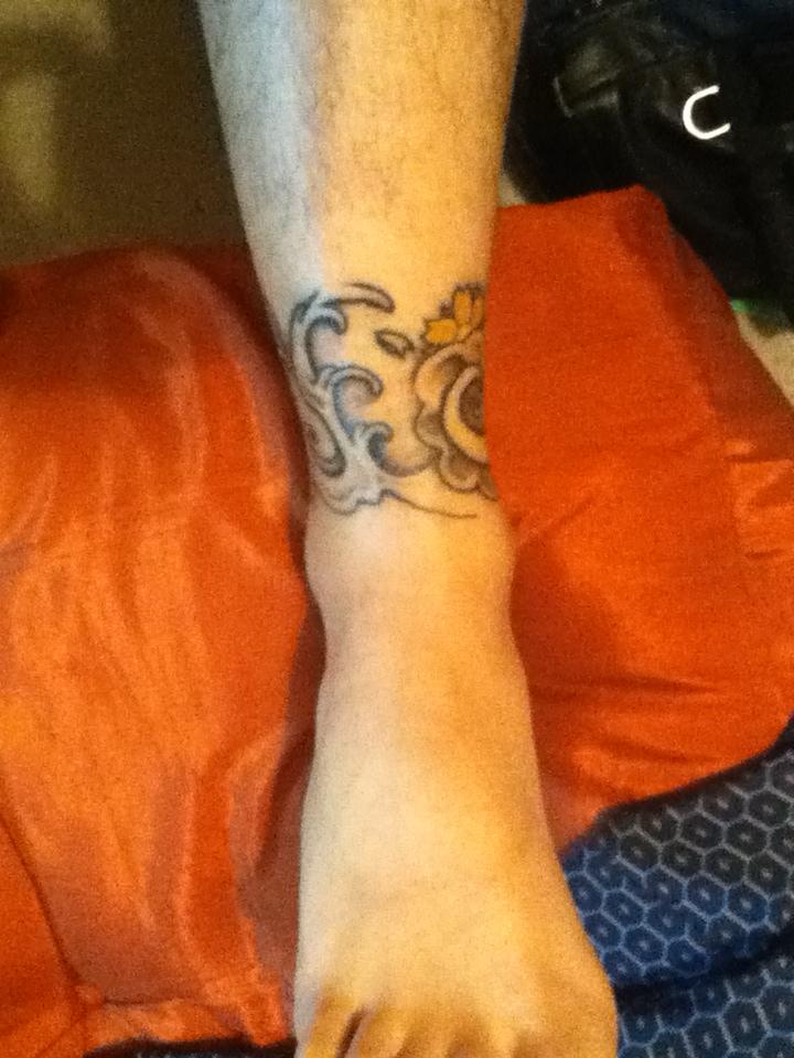 脚环到脚背纹身图片图片