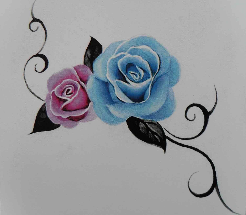 手腕花藤纹身手稿分享展示图片