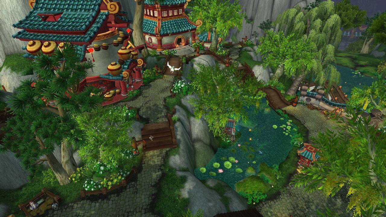 翡翠林是wow中风景最美的图片