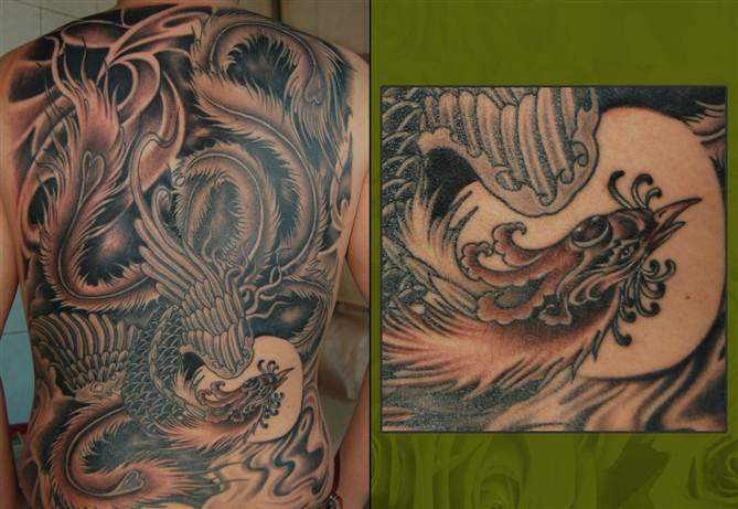 女纹身佛花分享展示图片